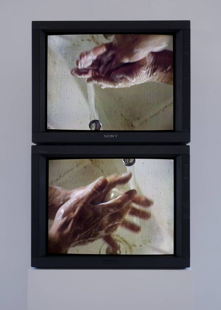 Bruce Nauman 'Raw Material Washing Hands, Normal (A of A/B) Raw Material Washing Hands, Normal (B of A/B)', 1996 © ARS, NY and DACS, London 2014
