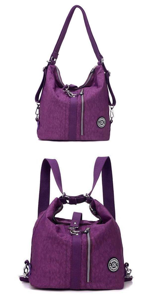 US$26.99 + Free shipping. Women bag, waterproof bag, nylon multifunction bag, handbag crossbody bag shoulder bag backpack.9 Colors to Match Your Style.