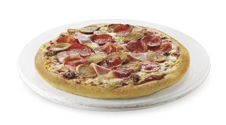 https://order.bostonpizza.com/#/menu/F9C7945C-9300-43F4-8D43-126C9EEE0E14/ToGo/Pickup/group/9aeeb4c5-0ff4-47e4-97a1-8f4bbb459dfd/item/a5f4b021-0ca5-43af-b71c-ae207813ba01 The Meateor™Beefy Bolognese sauce, smoked ham, pepperoni, seasoned ground beef, spicy Italian sausage and pizza mozzarella.