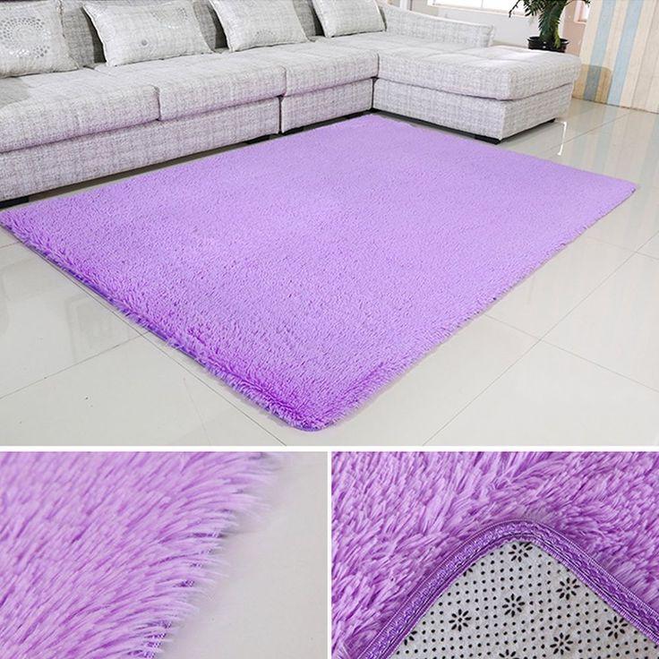 Purple  Area Rug Shaggy Living Bedroom Rug 4 Feet By 5.3 Feet Free Shipping