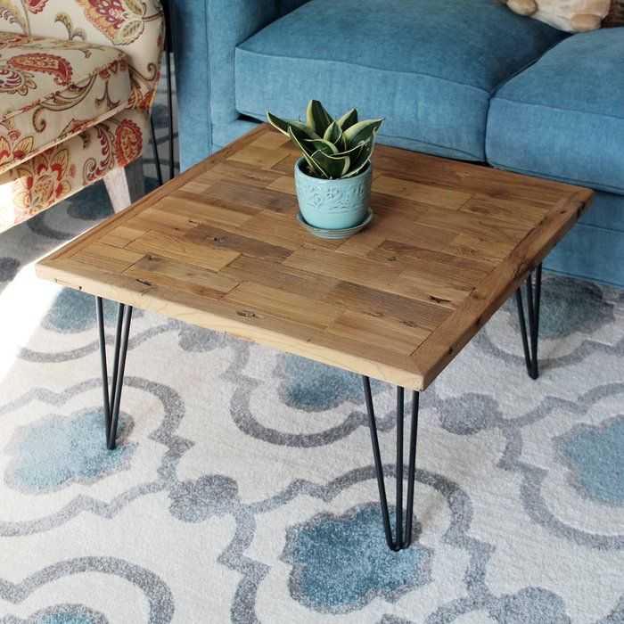Virgie Square Old Elm Coffee Table Coffee Table Coffee Table Square Pallet Diy