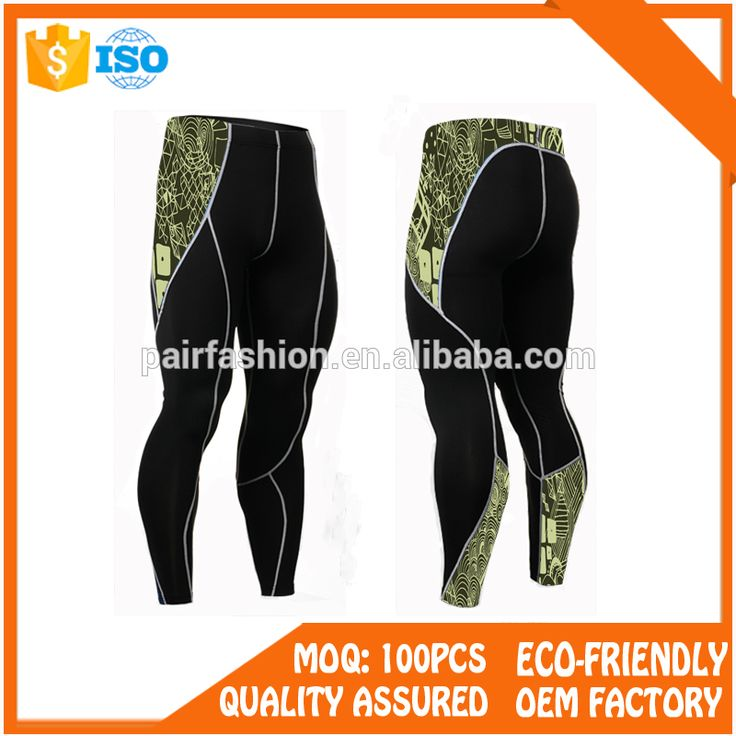 OEM wholesale fitness clothing, compression pants men with men athletic training pants