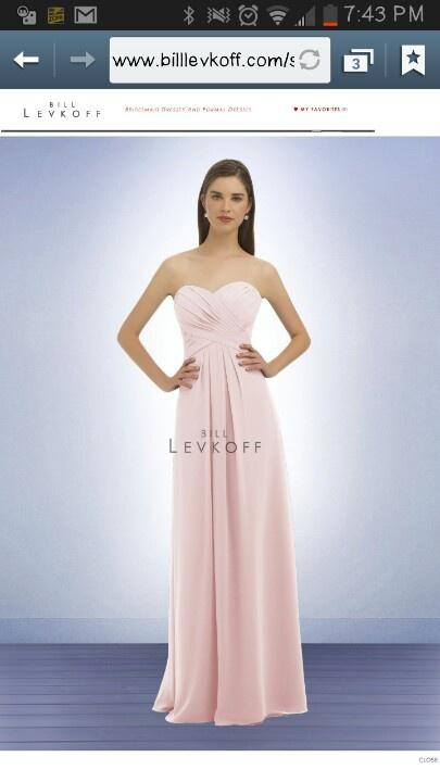 Bill Levkoff style 329 in petal pink
