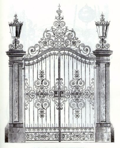 Wrought iron garden gate - ArchiExpo