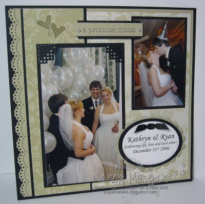 black scrapbook page ideas | PAPER SMILES: To Have & to Hold Scrapbook pages