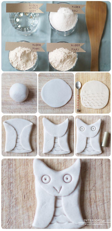 Salt dough owls - perfect as a Christmas tree ornaments!