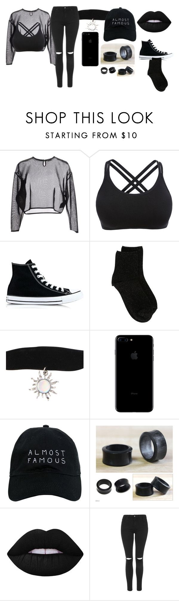 """""""Untitled #134"""" by ms-otaku on Polyvore featuring Yves Saint Laurent, Converse, Erika Cavallini Semi-Couture, Nasaseasons, NOVICA, Lime Crime and Topshop"""