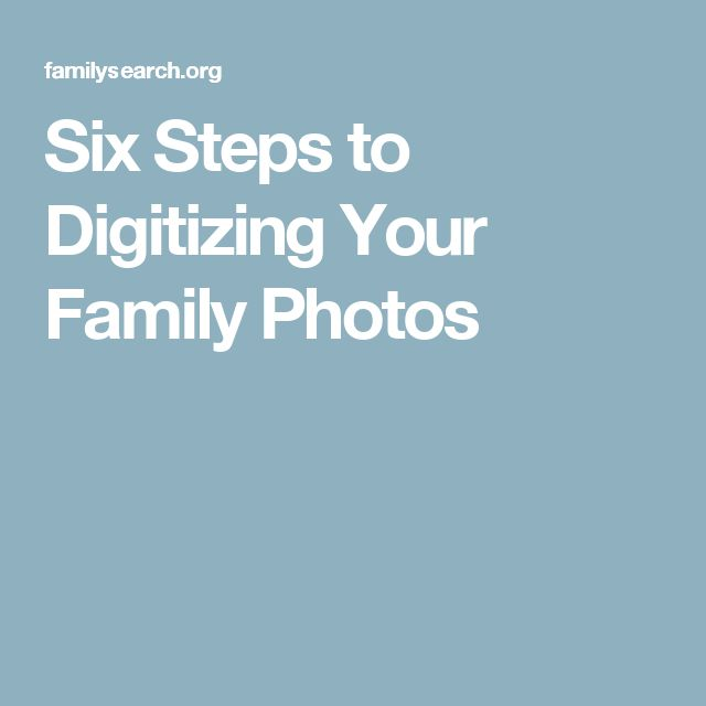 digitizing your family history pdf