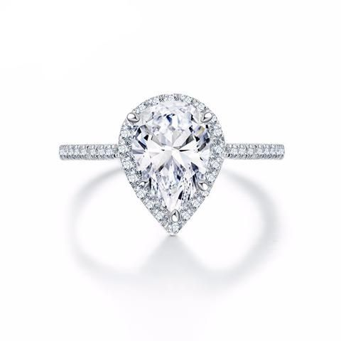 2 Carat Pear Shaped Solitaire Ring