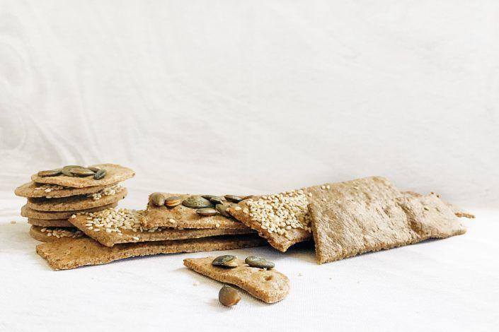Buckwheat Almond & Rosemary Crackers
