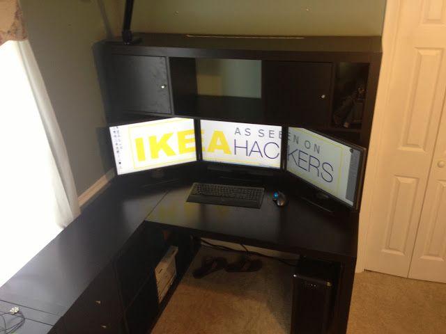Ikea hackers expedit desk with hutch desk pc for Desk hutch organizer ikea