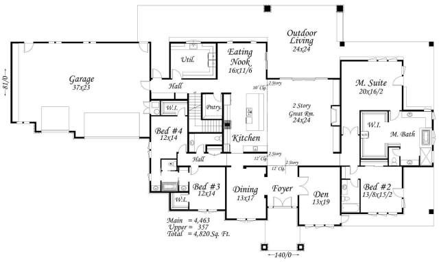 Modern One Story House Plans, Most Popular One Level House Plans