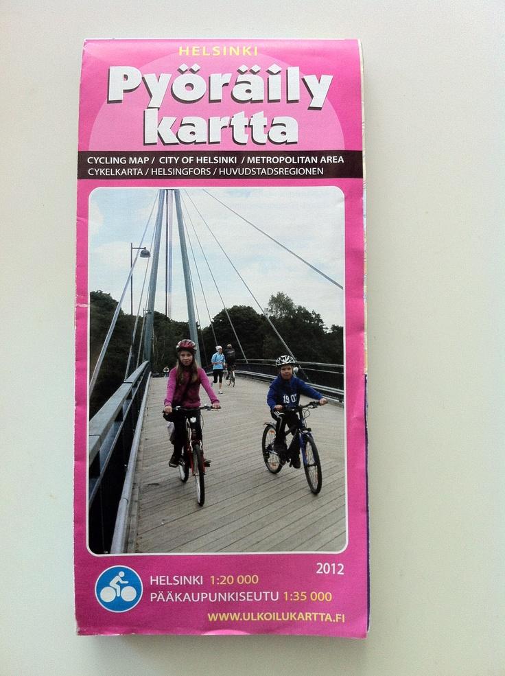 2012 Cycling Map / Helsinki Weeks / Helsinki Day 2012