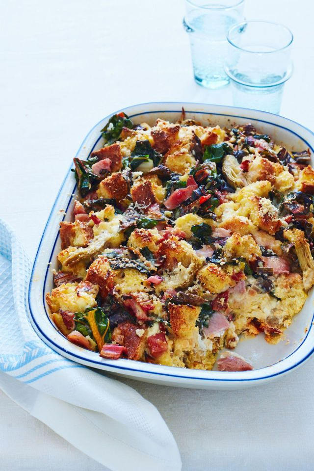 Hearty and impressive, this breakfast bread pudding is a savory egg ...