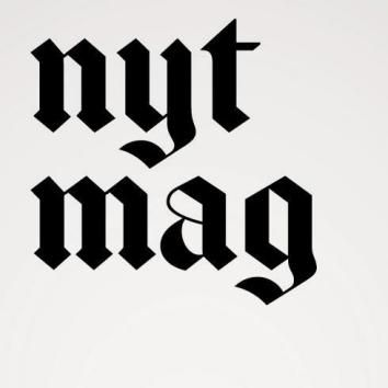 A new abbreviated logo for social media use, as seen on the New York Times Magazine's Twitter page.