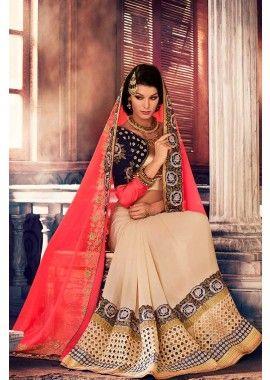 rouge georgette saree, - #Sari Mode #PartieUsureSari #SariPasCher #Shopkund
