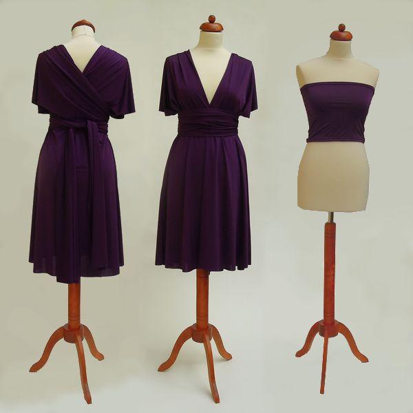 Krátké fialové Convertibles® šaty 💜 #fialovesatyconvertibles Každé #satyconvertibles mají k sobě bolerko/top ve stejné barvě, které si můžete vzít přímo na tělo nebo použít jako krycí díl vašeho vlastního spodního prádla. Šaty ale můžete nosit i bez něj a nechat tak vyniknout svá záda 👌