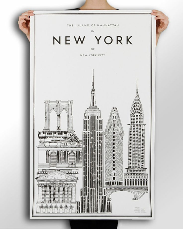 new york poster with some blueprints and architecture thrown into the mix nytimes minimalist. Black Bedroom Furniture Sets. Home Design Ideas