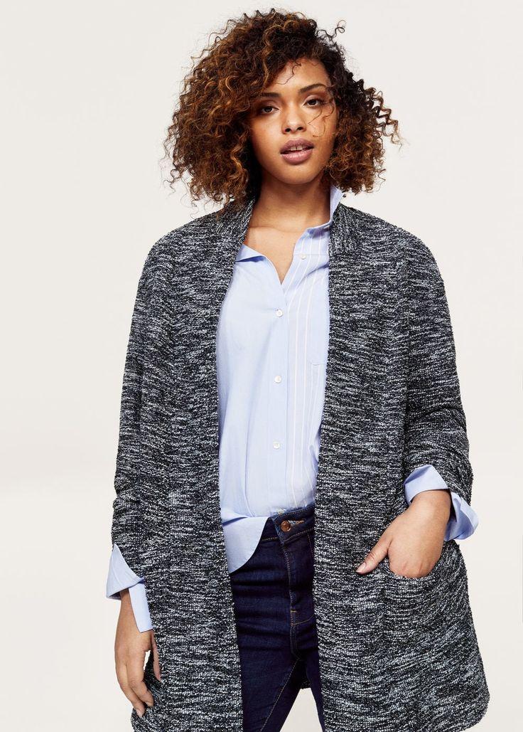 Texture flecked jacket  | VIOLETA BY MANGO