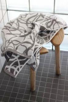 Wave bath towels