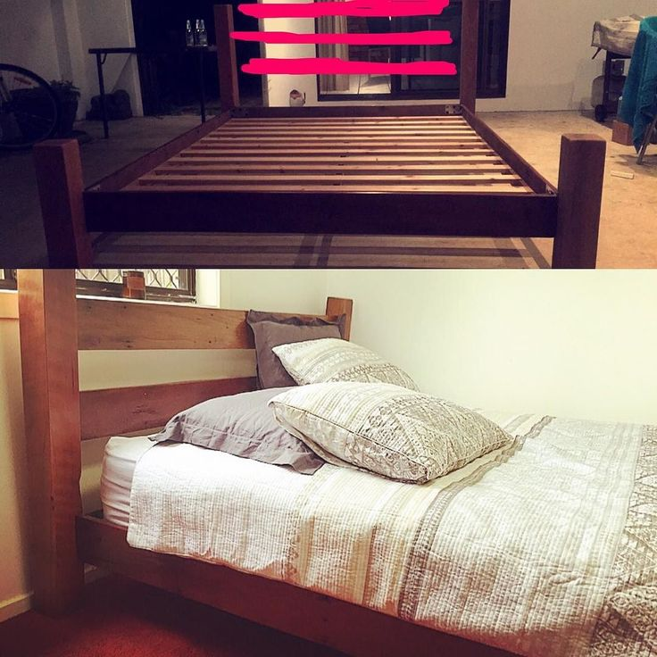 Finally after months of refusing to use power tools here is my handmade bed... 120 year old hardwood that nearly drove me insane. #nopowertools #recycledfurniture #recycledhardwood #recycled #recycledtimber #recycledbed #timberbed #thingsyoudoforlove #recycledgoods #notapalletbed #handmade #australianmade #checkthatoffthebucketlist #rusticfurniture by emsair #furniture