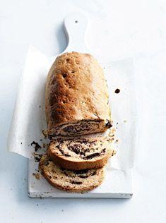 chocolate swirl scone loaf