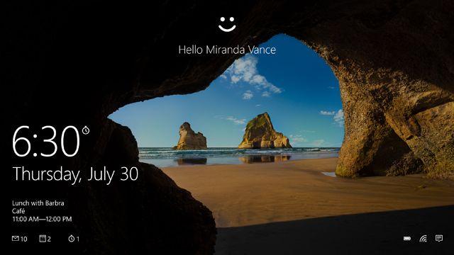 Bei der Anmeldung in Windows 10 brauchen Sie einen Klick mehr als bei Windows 7…