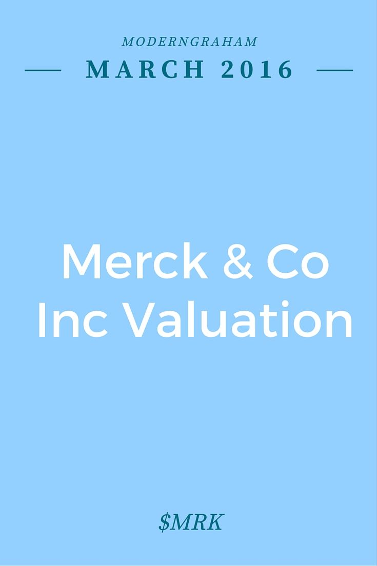 Stock analysis showing a specific look at how Merck & Co Inc (MRK) fares in the ModernGraham valuation model - ModernGraham
