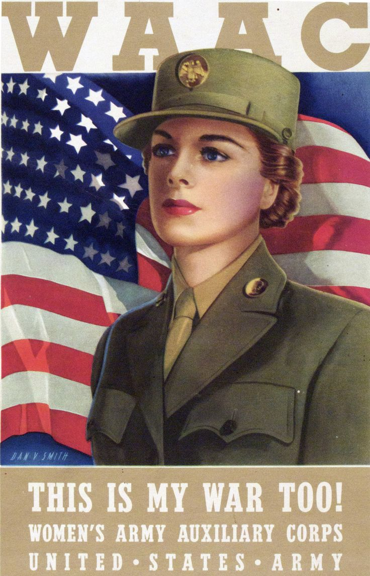 Join the US Army Women's Auxiliary Corps US Army Recruiting Poster  #USArmy #US #Army