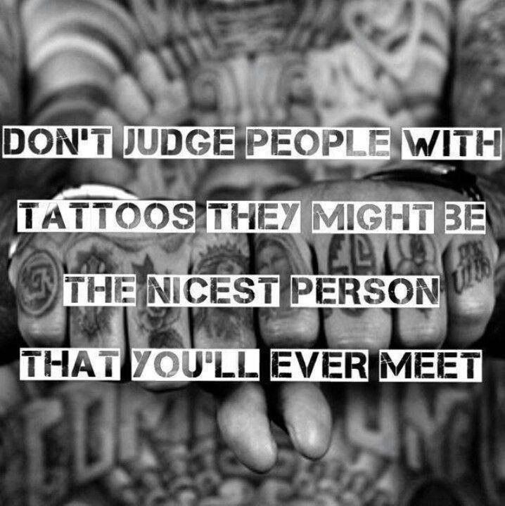 Don't judge | tattoos & piercings... | Pinterest