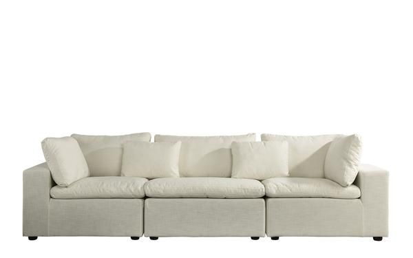 Alvina Contemporary Linen Lounge Sofa In 2019 Arw Sofa Lounge Sofa Lounge