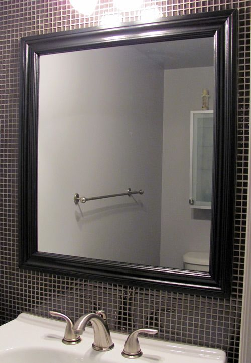 frame a mirror with wood molding more diy crafts framed mirrors mirror ...