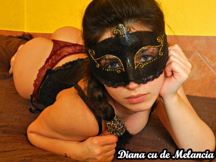 image Diana cu de melancia takes slaps for bad behavior