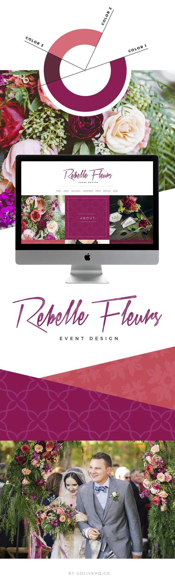 vibrant floral modern website design   |   by: GOLIVEHQ.CO