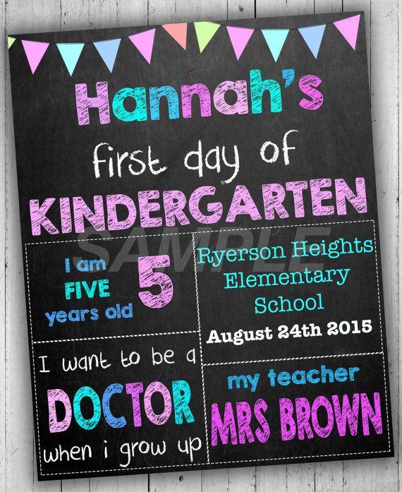 first day of school sign kindergarten sign back to school sign chalkboard education pinterest school signs school and kindergarten