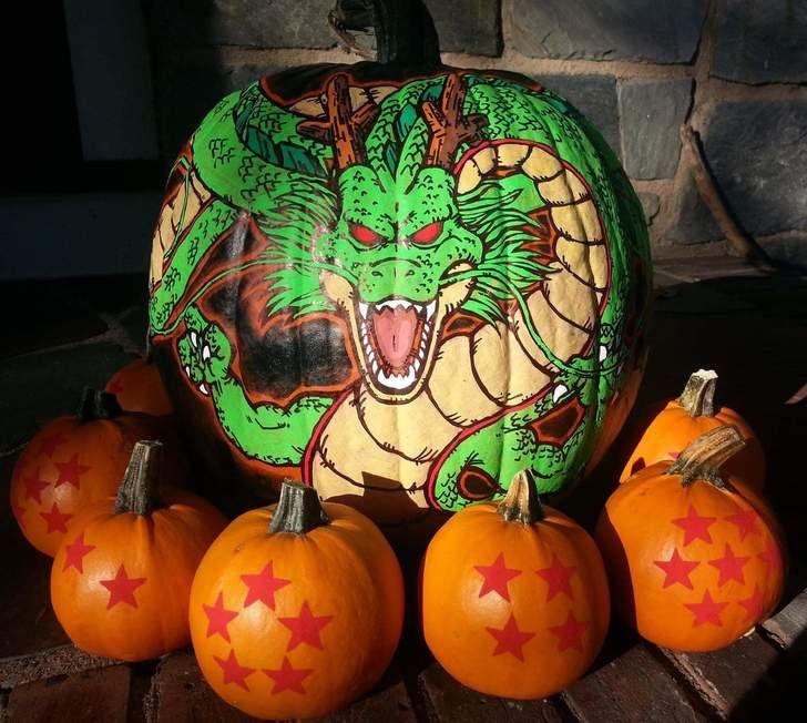 Incredible Dragon Ball Z pumpkin display!