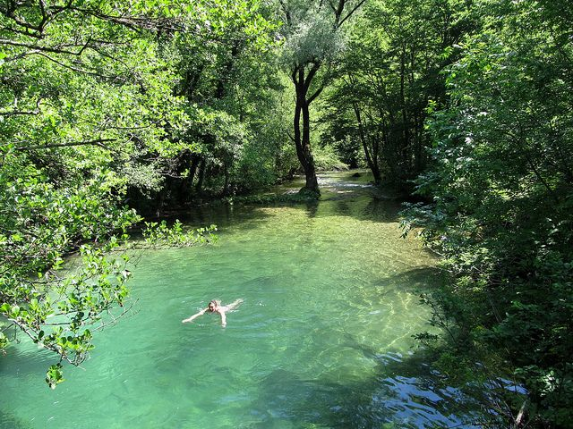 Hidden natural swimming pool by Undiscovered Montenegro, via Flickr