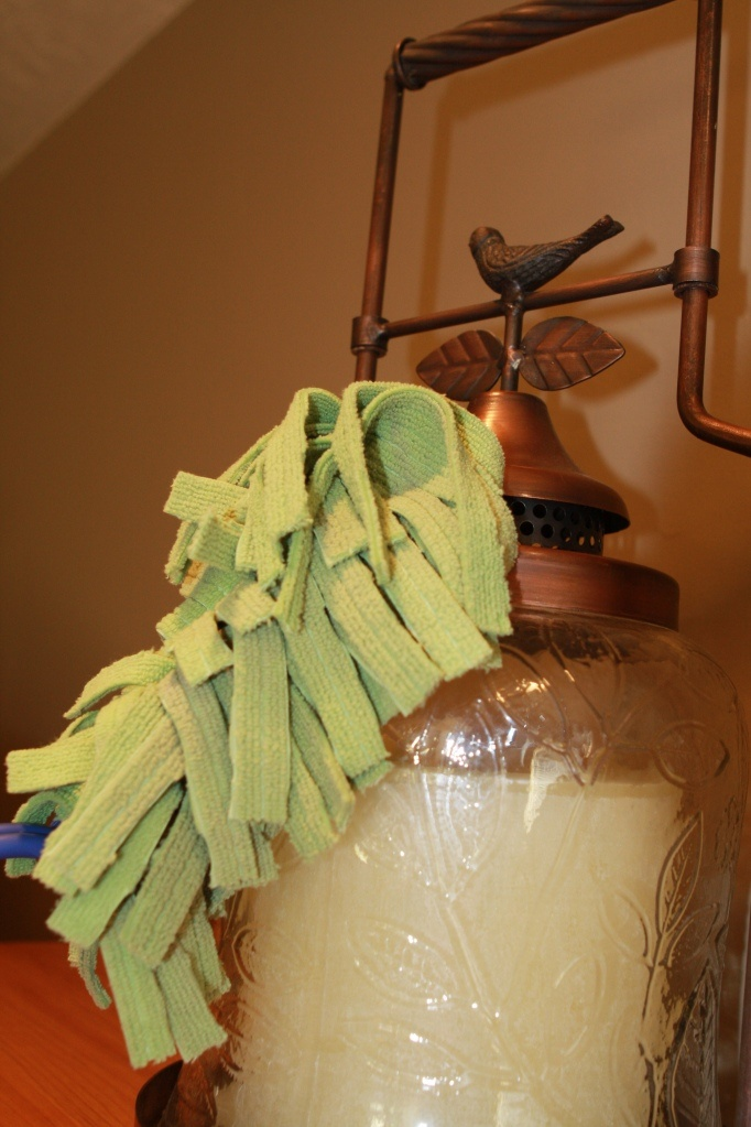 make your own swiffer duster refills - I'm out...so perfect timing