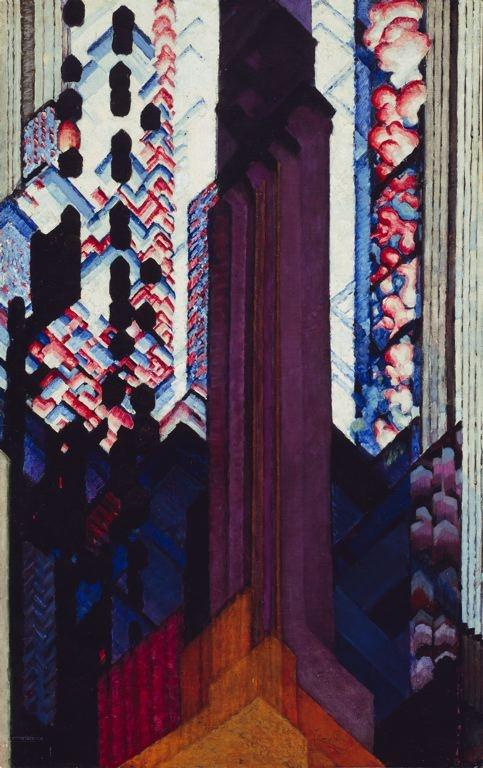 Frantisek Kupka / Reminiscence of a Cathedral / 1920–23 / Oil on canvas