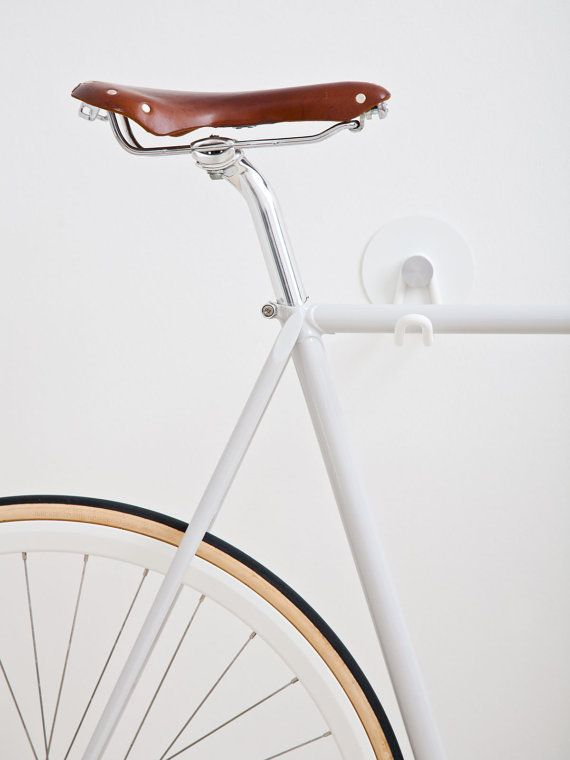 Bike Hooks / ALL WHITE GUM would look great in the hallway or living room