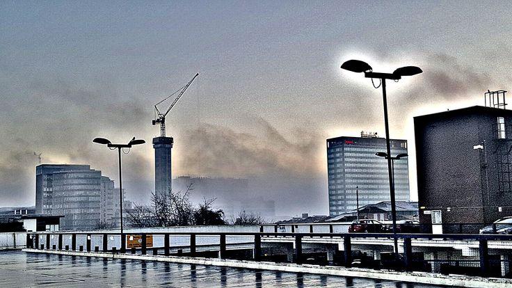 Birmingham UK skyline (HDR)