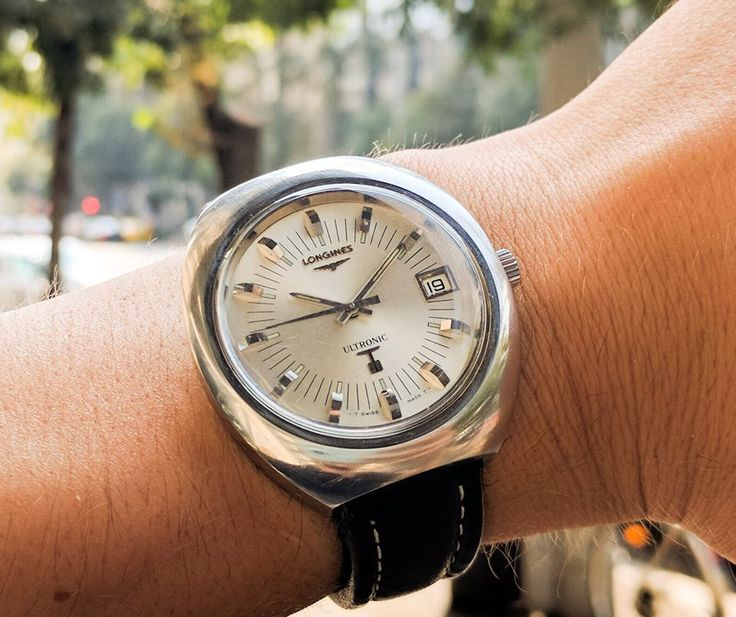 Longines ultronic  38 mm watch  Date function