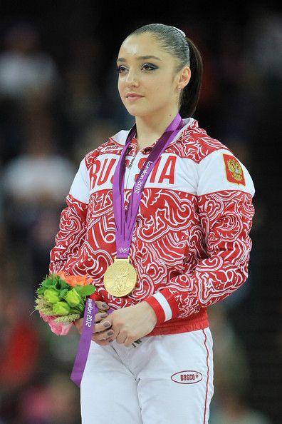 Aliya Mustafina Алия́ Муста́фина with her Olympic gold!