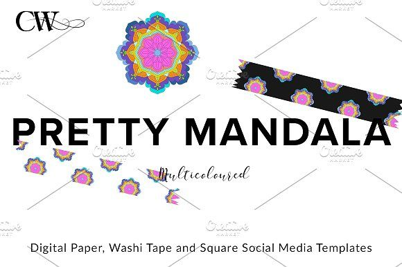 Mandala Pattern Kit by CoutureWeb on @creativemarket