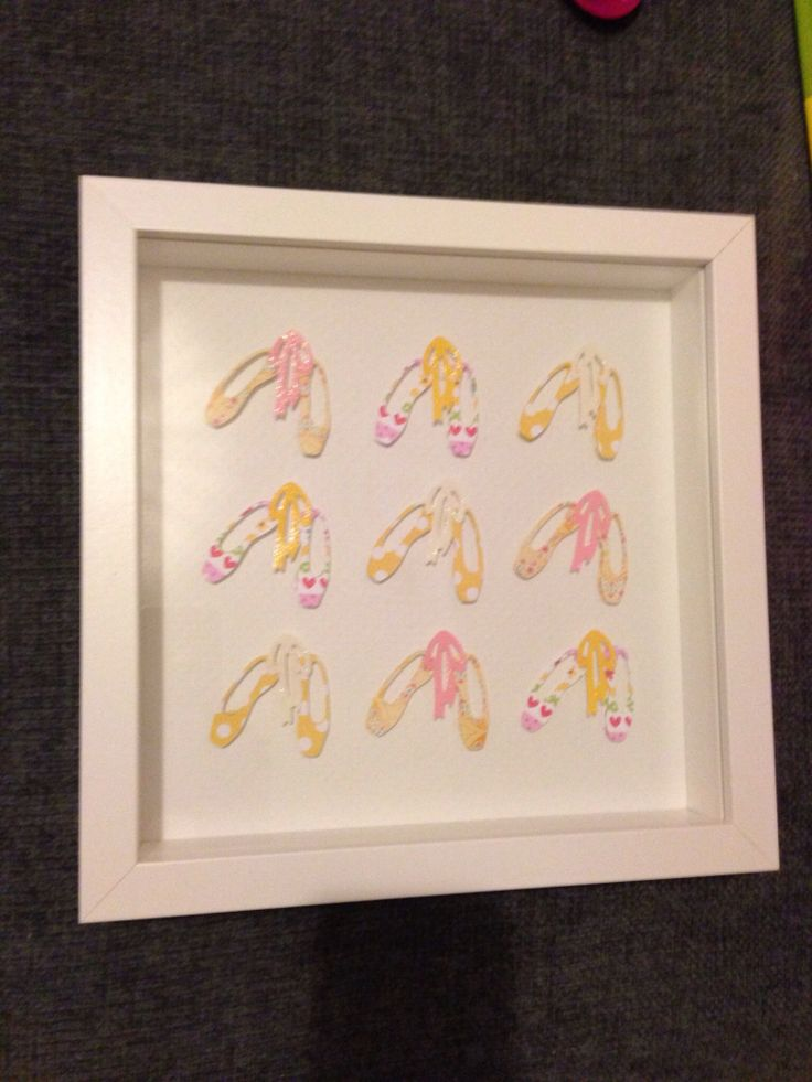 Die cut paper shapes framed @ Lilibets Monkey Hut