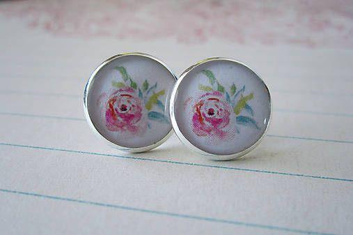 RUŽE | Romantické náušnice s kvetinovým vzorom | The Unicornlette Shop