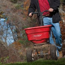 How to Prep Your Lawn for Winter The end of summer signals the best time to lay the groundwork for a lush field of grass come spring  Roger Cook using a lightweight rotary spreader to broadcast fertilizer, lime, and grass seed