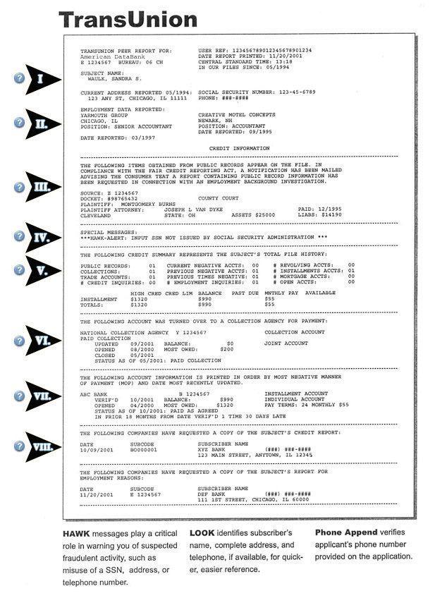 Credit Report Sample Equifax Credit Report Pdf Credit Report