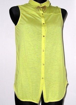 Kup mój przedmiot na #vintedpl http://www.vinted.pl/damska-odziez/bluzki-z-krotkimi-rekawami/11269959-koszula-bluzka-zlote-guziki-hm-kanarkowa