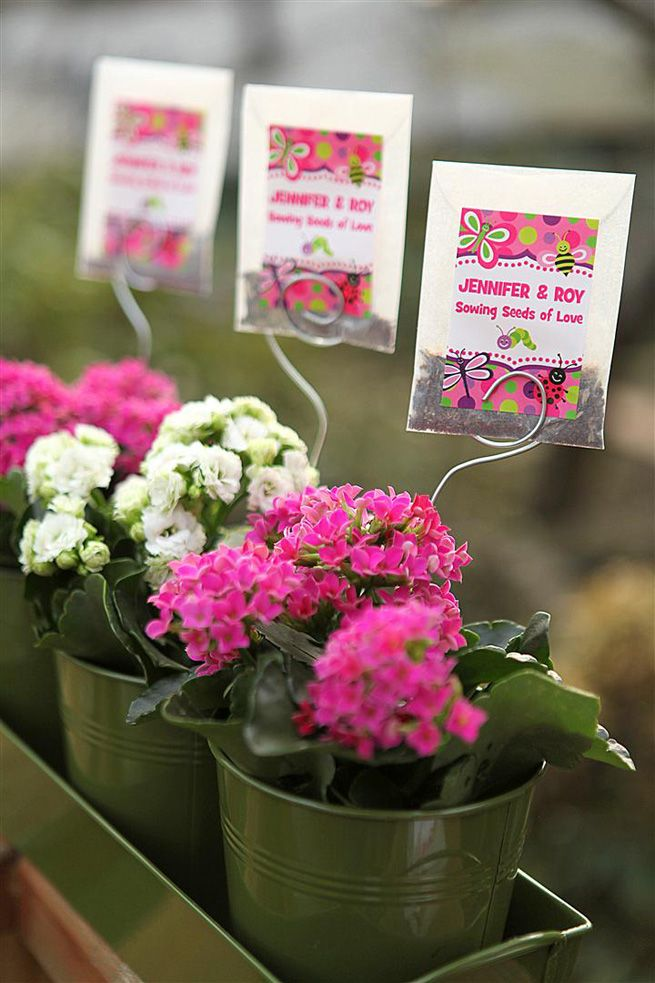 Seed Packet Favors from My Own Ideas blog #favor #gift #decoration #centerpiece #spring #wedding #shower